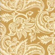 Moda Madam Rouge by French General - 5686 - Stylised Floral on Gold  - 13771 15 - Cotton Fabric